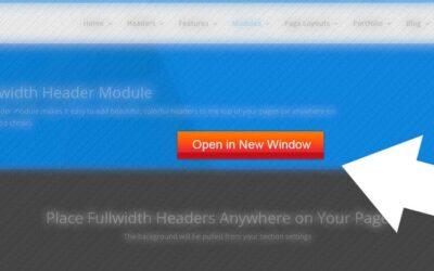 Divi Theme | Open Fullwidth Header Button Links In New Window